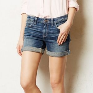 Pilcro and the Letterpress Denim Shorts